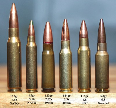6.5x40 loaded with a Lapua 144 grain FMJBT compared with other rounds