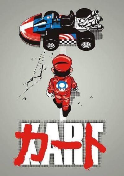 Akira Poster Mario Kart