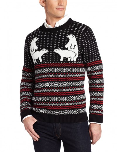 Alex Stevens Men's Polar Bear Pair Ugly Christmas Sweater