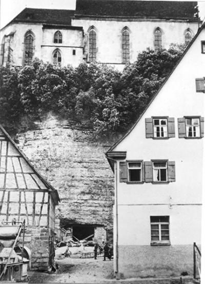 B-VIII reactor entrance at castle in Haigerloch, Germany