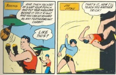 Batman Training Robin in Boxing and Jiu-Jitsu