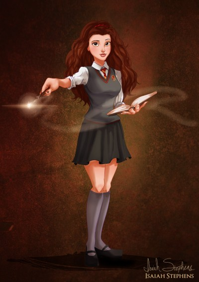 Belle As Hermione Granger by Isaiah Stephens