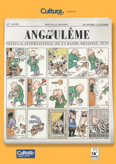 Bill Watterson Poster for 42nd annual Angoulême International Comics Festival
