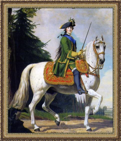 Catherine the Great in Preobrazhenskii Uniform