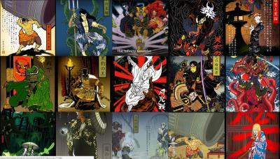 Dakota Alexander Ukiyo-e Comic Book Art