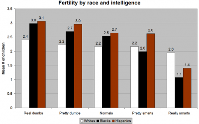 Fertility by Race and Intelligence