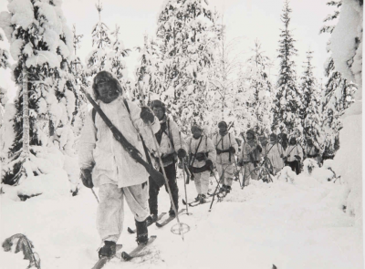 Finnish Soldiers on Skis