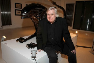 Giger with Alien Statue