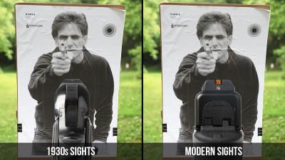Handgun Sights from 1930s vs. Modern