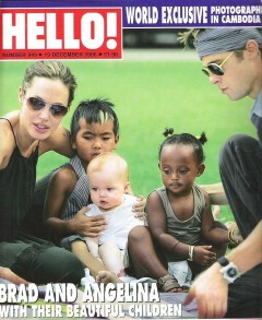 Hello Magazine Cover of Angelina Jolie and Family