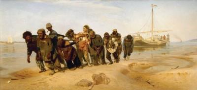 Ilya Repin Barge Haulers on the Volga (1870-73)