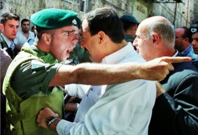 Israeli Soldier and Palestinian Political Leader Locked in Angry Conflict