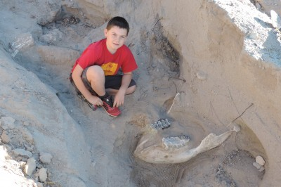 Jude Sparks with Stegomastodon Jaw