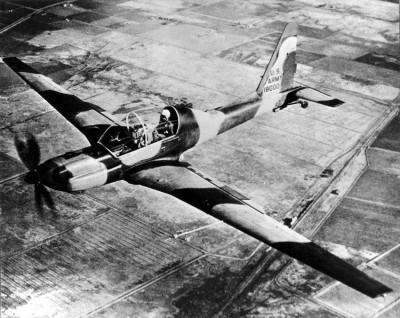 Lockheed YO-3A in Flight