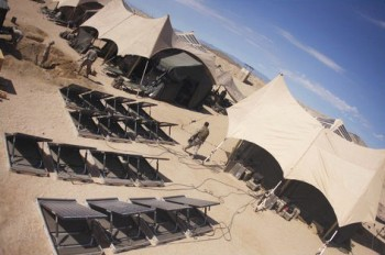 Marine Corps PV Panels and Canvas Tents