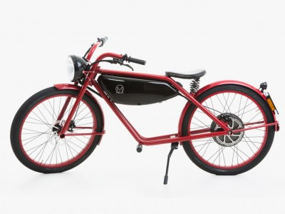 Motorman Electric Moped in Red