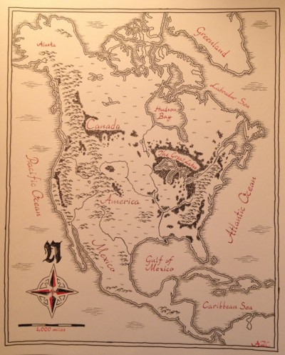 North America Map in Tolkien's Style