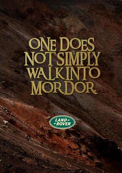 One Ad to Rule Them All Land Rover