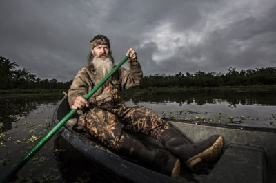 Phil Robertson of Duck Dynasty in Canoe