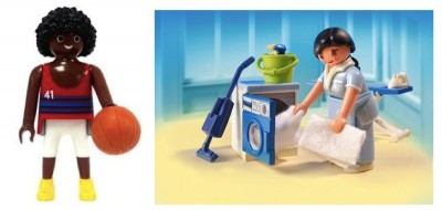 Playmobil Basketball Player and Housekeeper