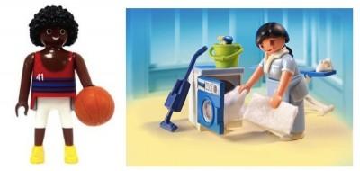 Playmobil Basketball Player and Housekeeper