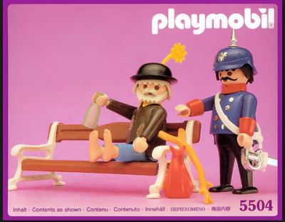 Playmobil Hobo and Cop
