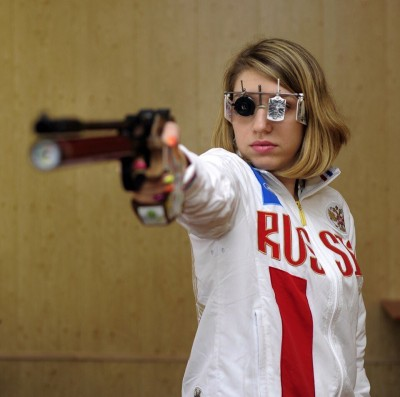 Russian Olympic Pistol Shooter