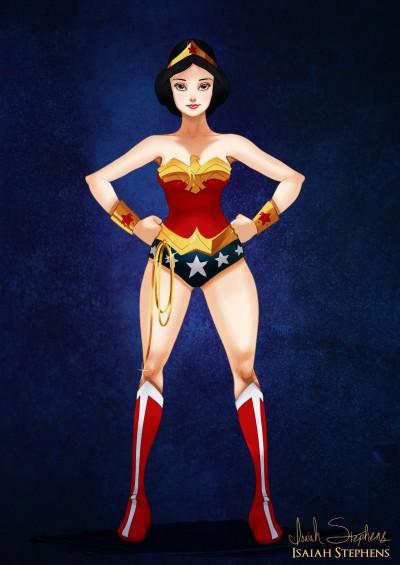 Snow White as Wonder Woman by Isaiah Stephens