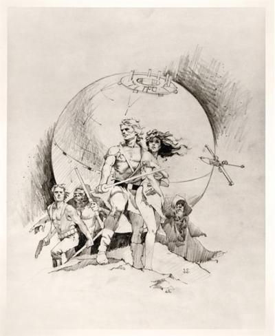 Star Wars Frazetta-Style Poster