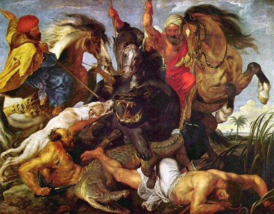 The Hippopotamus and Crocodile Hunt by Peter Paul Rubens