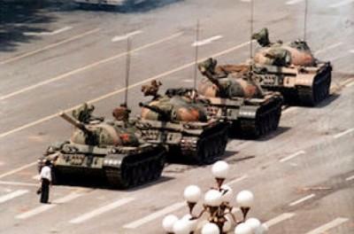 Tiananmen Square Tank Man Zoom