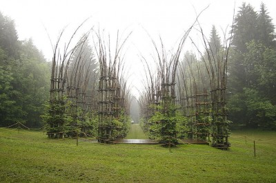 Tree Cathedral or Cattedrale Vegetale near Bergamo by Giuliano Mauri
