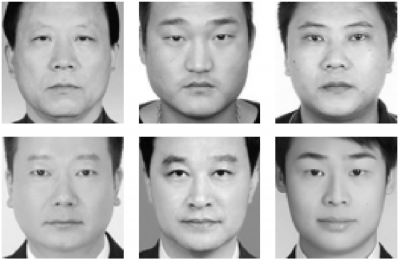 Wu and Zhang's criminal images (top) and non-criminal images (bottom)