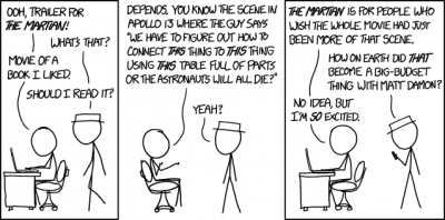 xkcd The Martian